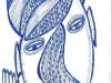 Köpfe 6 - Kopf mit Hand - 14,8 x 10,5 cm
